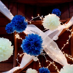 Looking for a blue and white themed decor?