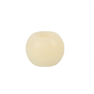 Ivory Round Wax LED Candle 2""