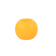 Orange Round Wax LED Candle 2""