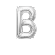 Letter Balloon B Silver 14""