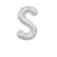 Letter Balloon S Silver 14""