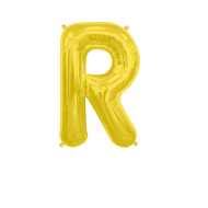 Letter Balloon R Gold 14""