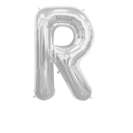 Letter Balloon R Silver 36""