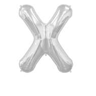 Letter Balloon X Silver 36""
