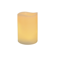 """Ivory Frostfire Moon Candle 6"""""""
