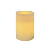 Ivory Pillar Wax Candle 6""