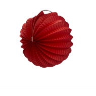 Red Accordion Paper Lantern Ball 8""