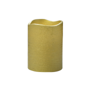 Gold Frostfire Moon Candle 4""