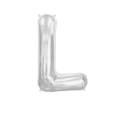 Letter Balloon L Silver 14""