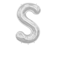 Letter Balloon S Silver 36""